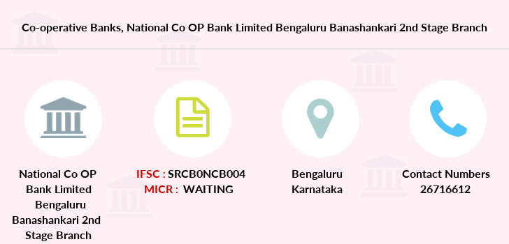 Co-operative-banks National-co-op-bank-limited-bengaluru-banashankari-2nd-stage branch