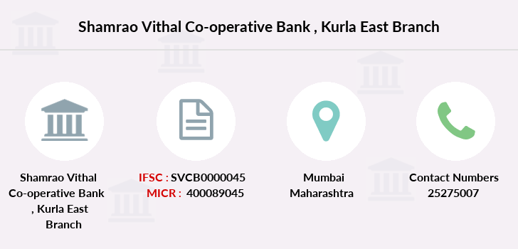 Shamrao-vithal-co-op-bank Kurla-east branch