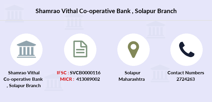 Shamrao-vithal-co-op-bank Solapur branch