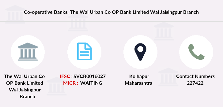 Co-operative-banks The-wai-urban-co-op-bank-limited-wai-jaisingpur branch