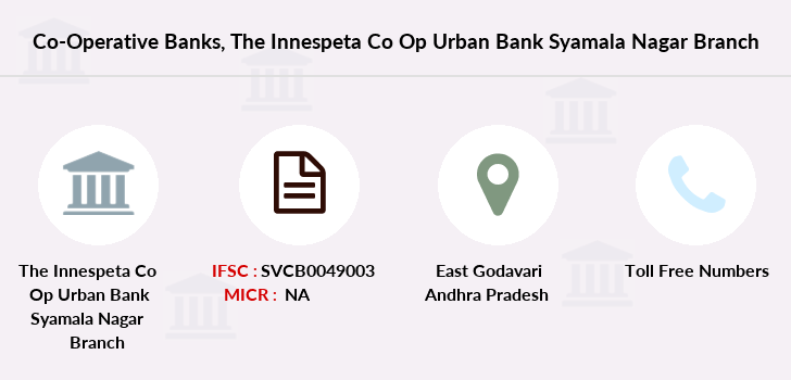 Co-operative-banks The-innespeta-co-op-urban-bank-syamala-nagar branch