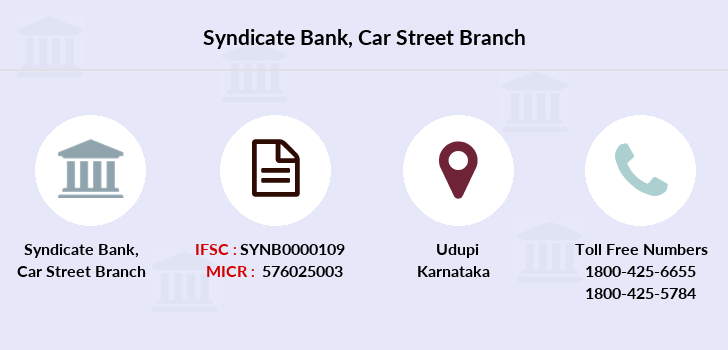 Syndicate-bank Car-street branch