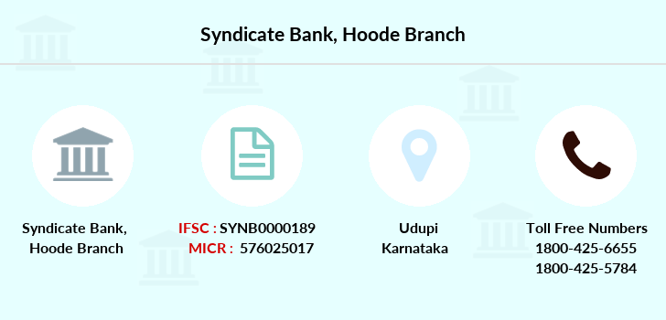 Syndicate-bank Hoode branch