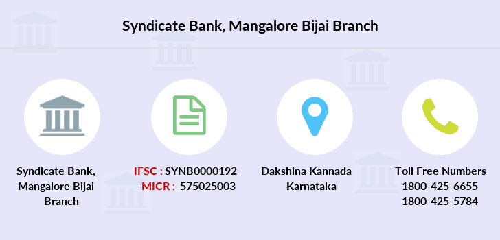 Syndicate-bank Mangalore-bijai branch