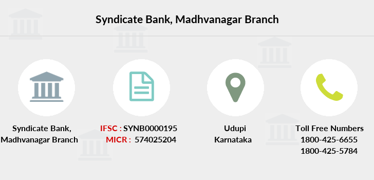 Syndicate-bank Madhvanagar branch