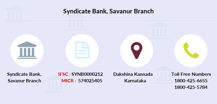 Syndicate-bank Savanur branch