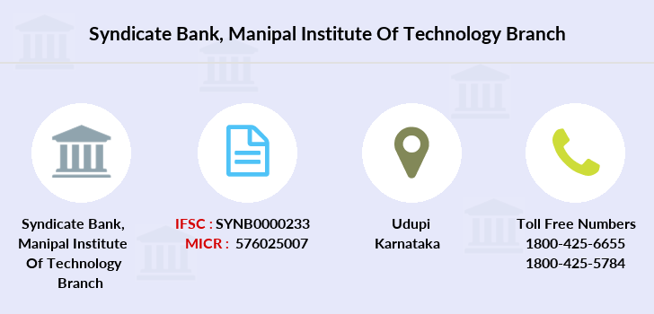 Syndicate-bank Manipal-institute-of-technology branch