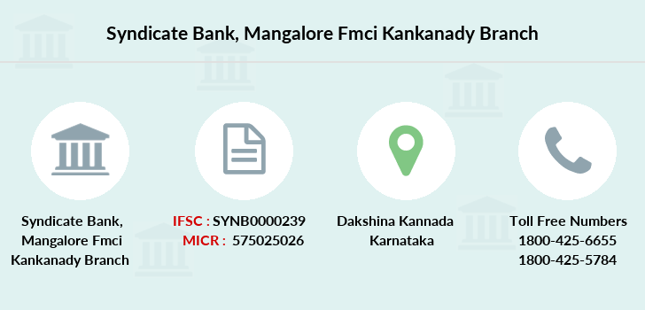 Syndicate-bank Mangalore-fmci-kankanady branch