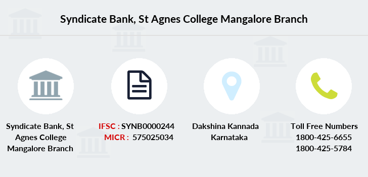 Syndicate-bank St-agnes-college-mangalore branch