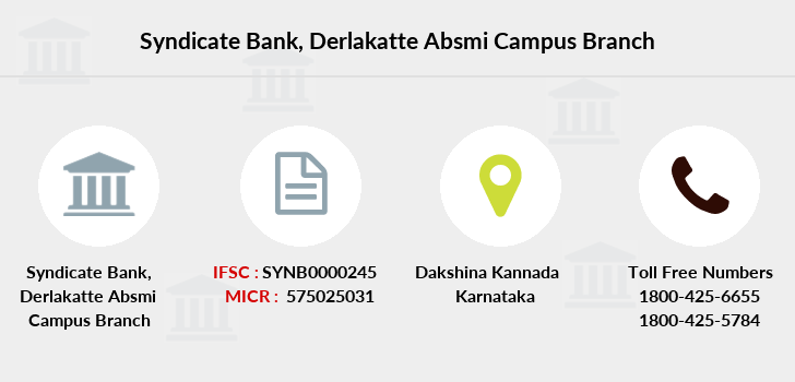 Syndicate-bank Derlakatte-absmi-campus branch