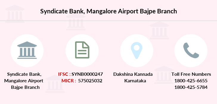 Syndicate-bank Mangalore-airport-bajpe branch
