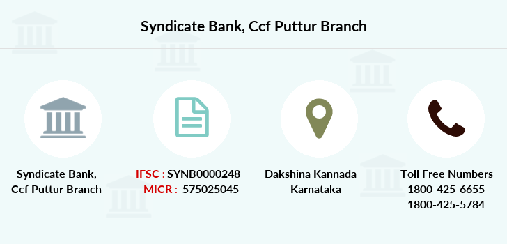 Syndicate-bank Ccf-puttur branch
