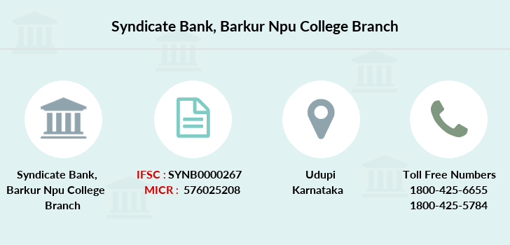 Syndicate-bank Barkur-npu-college branch