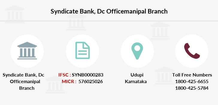 Syndicate-bank Dc-officemanipal branch