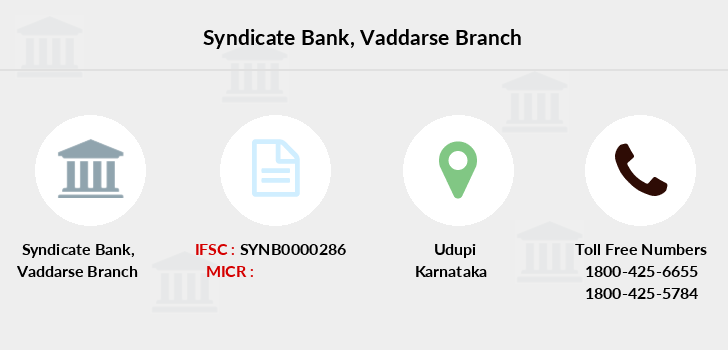 Syndicate-bank Vaddarse branch