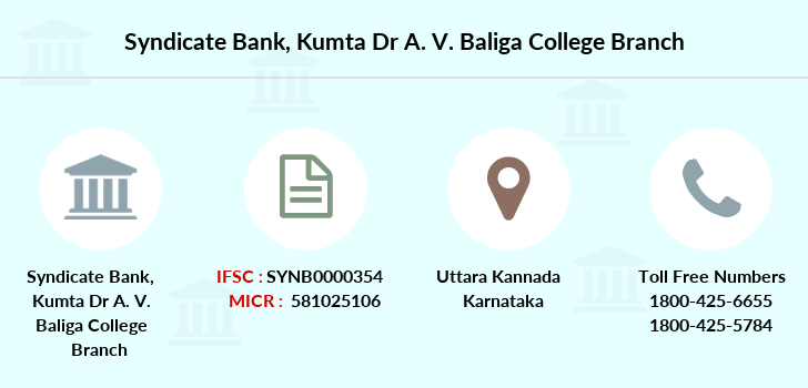 Syndicate-bank Kumta-dr-a-v-baliga-college branch