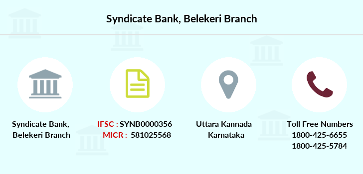 Syndicate-bank Belekeri branch