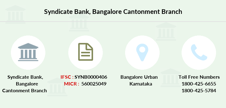 Syndicate-bank Bangalore-cantonment branch