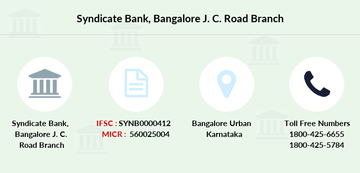 Syndicate-bank Bangalore-j-c-road branch