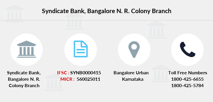Syndicate-bank Bangalore-n-r-colony branch