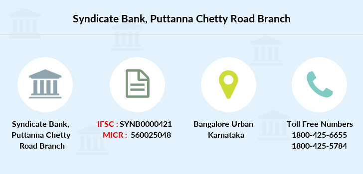 Syndicate-bank Puttanna-chetty-road branch