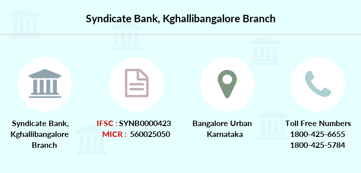 Syndicate-bank Kghallibangalore branch