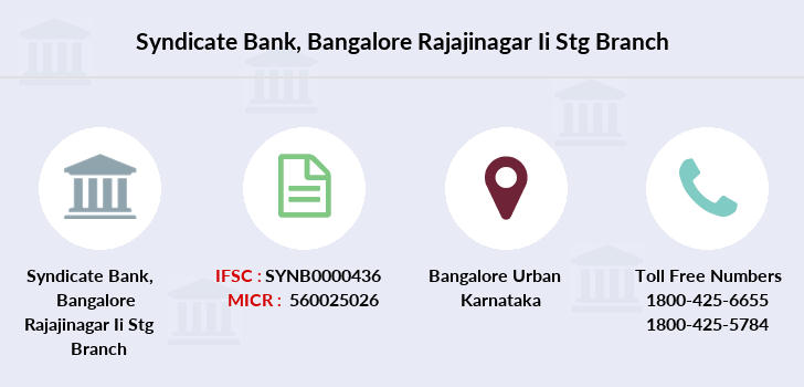 Syndicate-bank Bangalore-rajajinagar-ii-stg branch