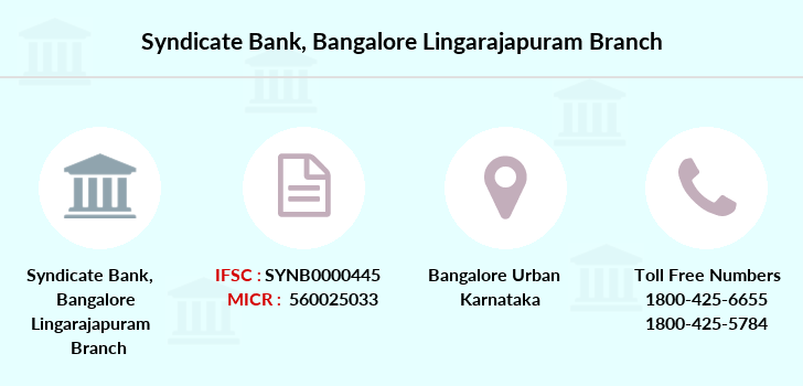 Syndicate-bank Bangalore-lingarajapuram branch
