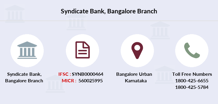 Syndicate-bank Bangalore branch