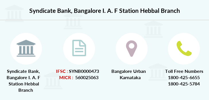 Syndicate-bank Bangalore-i-a-f-station-hebbal branch