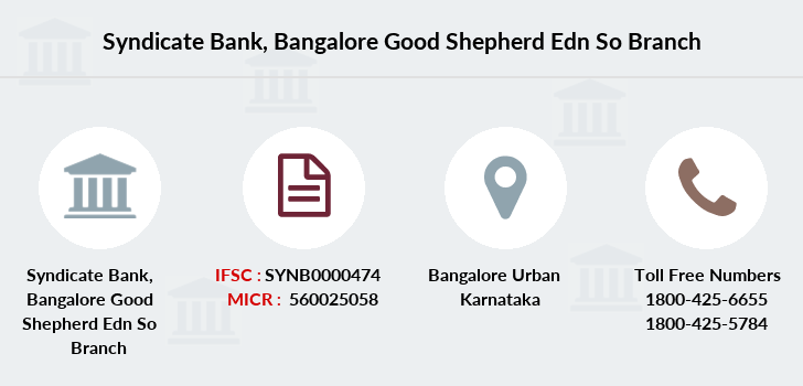 Syndicate-bank Bangalore-good-shepherd-edn-so branch