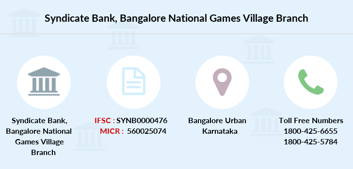 Syndicate-bank Bangalore-national-games-village branch