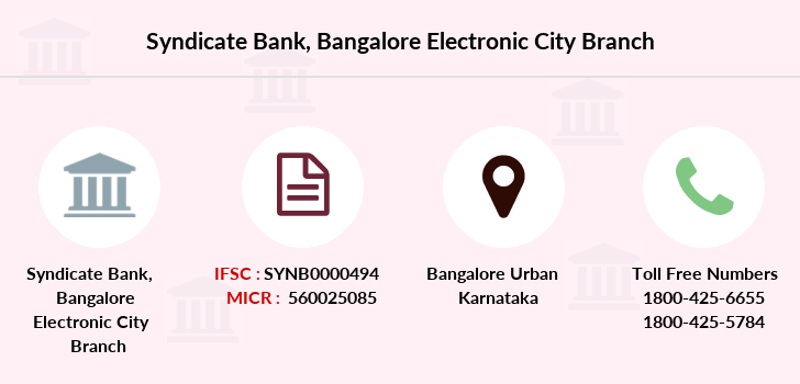 Syndicate-bank Bangalore-electronic-city branch