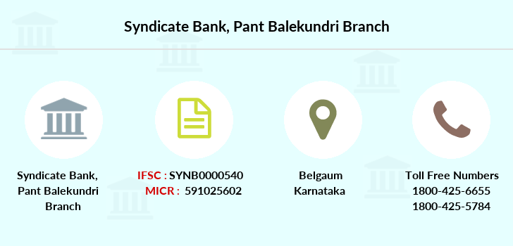 Syndicate-bank Pant-balekundri branch