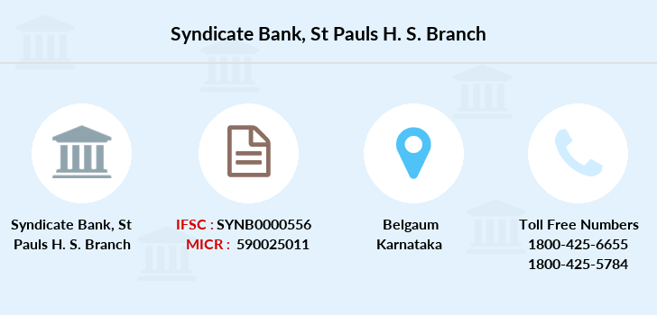 Syndicate-bank St-pauls-h-s branch
