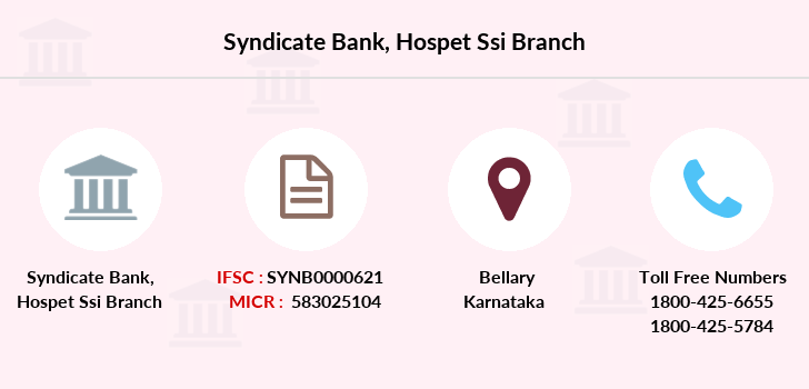 Syndicate-bank Hospet-ssi branch