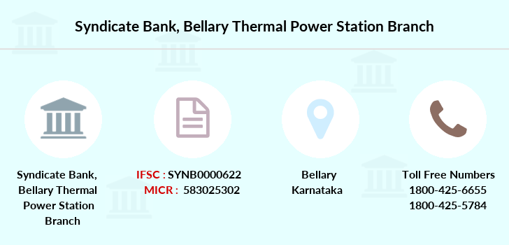 Syndicate-bank Bellary-thermal-power-station branch