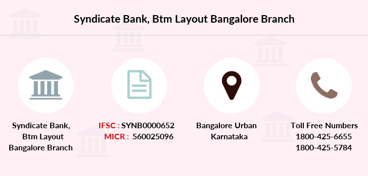 Syndicate-bank Btm-layout-bangalore branch