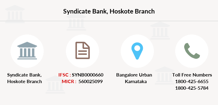 Syndicate-bank Hoskote branch