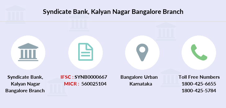 Syndicate-bank Kalyan-nagar-bangalore branch