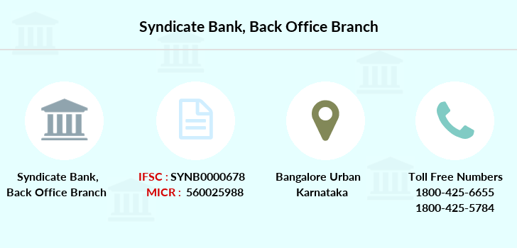 Syndicate-bank Back-office branch