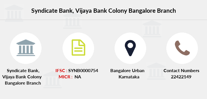 Syndicate-bank Vijaya-bank-colony-bangalore branch