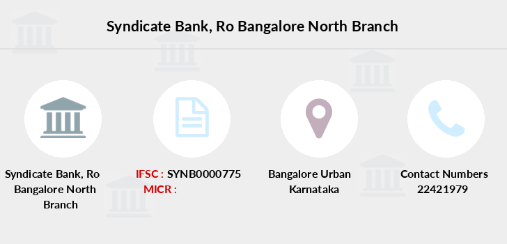 Syndicate-bank Ro-bangalore-north branch