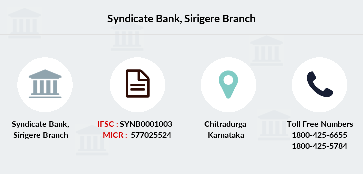 Syndicate-bank Sirigere branch