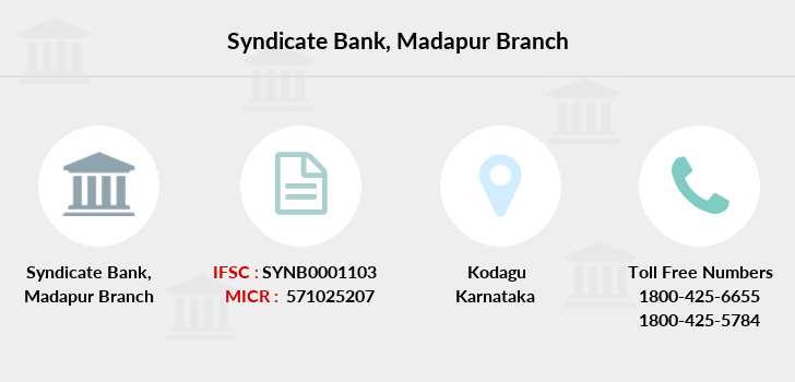Syndicate-bank Madapur branch