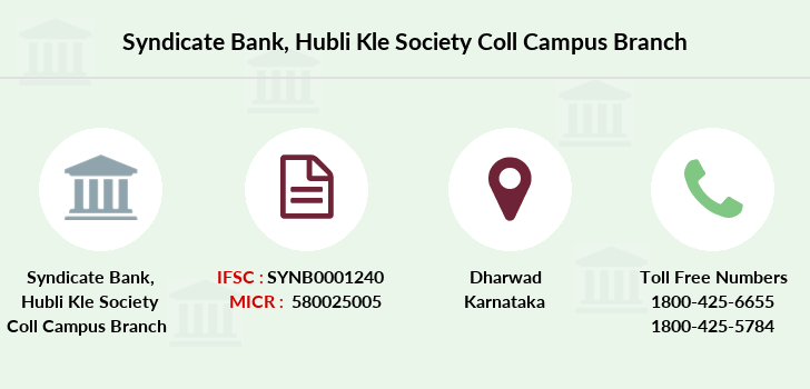 Syndicate-bank Hubli-kle-society-coll-campus branch