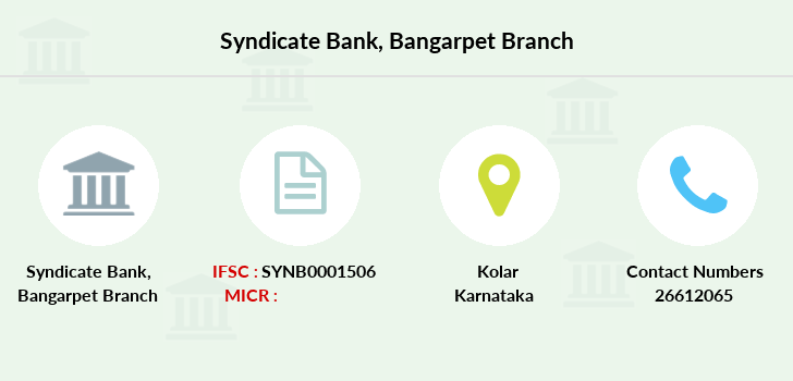 Syndicate-bank Bangarpet branch