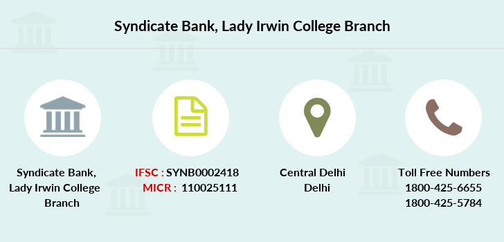 Syndicate-bank Lady-irwin-college branch