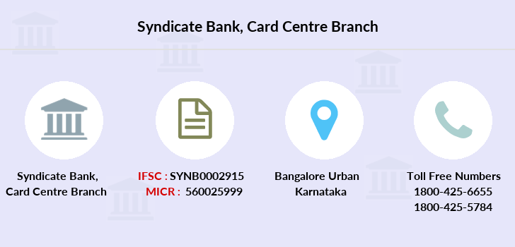 Syndicate-bank Card-centre branch