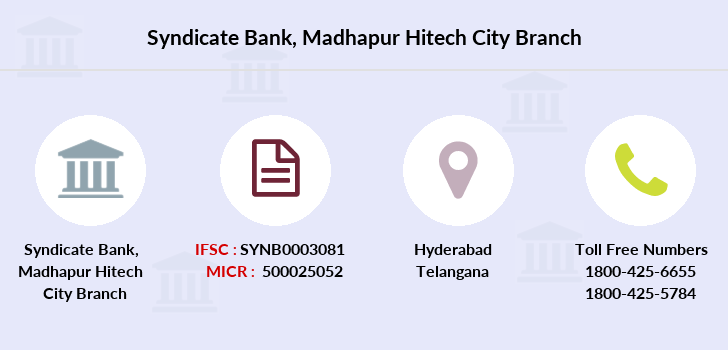 Syndicate-bank Madhapur-hitech-city branch
